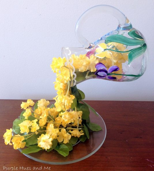 april showers flowing flowers diy, crafts, flowers, how to, repurposing upcycling