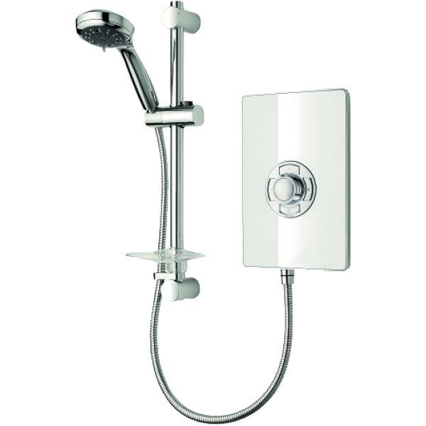 Triton Aspirante Electric Shower - White Gloss 8.5kW