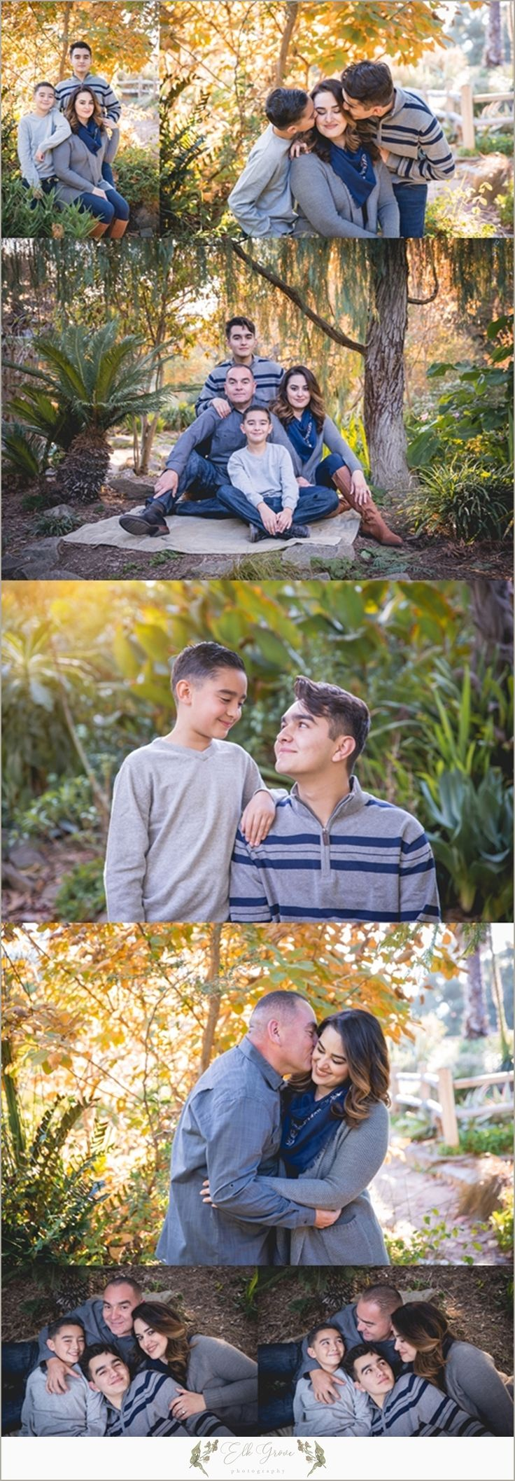 Family of 4. Birthday Pictures. Family Photography by Elk Grove Photography - Natural Light - Posing Ideas for Families, Siblings, Parents, Couples, and Large Groups. Unposed Candid Ideas. Family Photography Outfit Ideas and Color Palettes. Sacramento, CA.