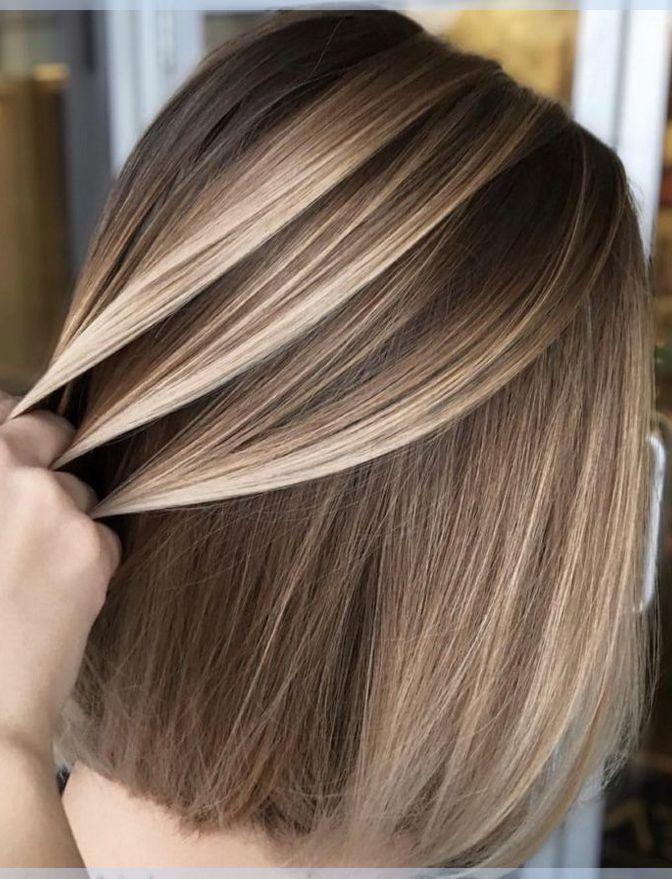 Gerade Kurze Bob Frisuren Ideen Mit Blonden Balayage Haarfarbe Haarfarbe Balayage Balayage Frisuren