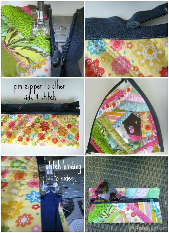 Glasses Case-Turn fabric scraps into a funky sunglass case