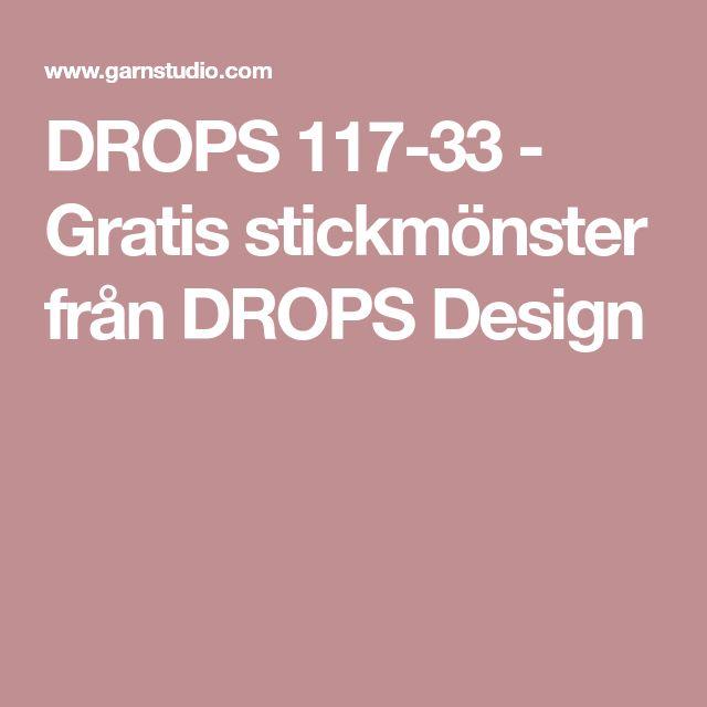 DROPS 117-33 - Gratis stickmönster från DROPS Design