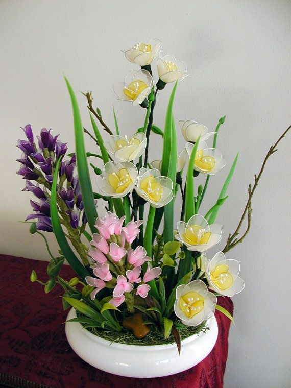 Handmade Colorful Flower Arrangement by LiYunFlora on Etsy, $40.00