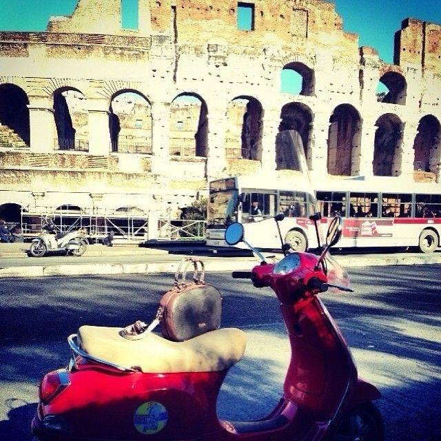 Bongiorno da Roma !!! #Doca #fashion #collection #bag #likes #traveling #Rome #cappuccino #espresso #Colosseum #