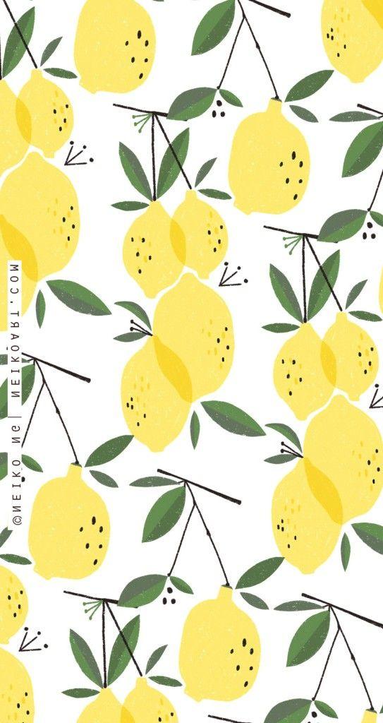 Cute Lemon Wallpaper Iphone 7 Plus Iphonewallpapers Pattern