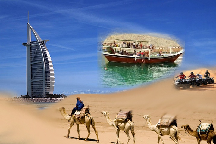 Dubai Tourism has a lot of variety to offer where you can visit heritage sites like Dubai Museum and Al Fahidi District. You can also visit world famous landmarks like the tallest building in the world – Burj AL Khalifa and the only seven star hotel in the world - Burj Al Arab. There are lots of beautiful beaches where you can do enjoy water sports and or can enjoy the Sun in deserts!
