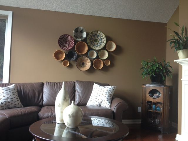 Our customer creates her own style with a version of our basket wall art looks