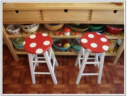 geek-inspired decor i could actually live with: mushroom stools