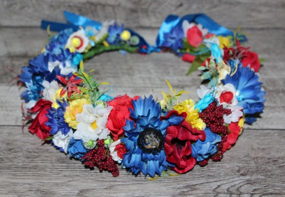 Floral crown Flower wreath wedding flower crown от forBridal