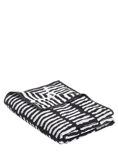 WRONG FOR HAY - HE COTTON TERRYCLOTH BEACH TOWEL - WHITE/BLACK