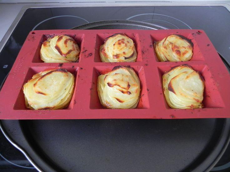 Montañitas de patata asada con parmesano (guarnición)   CocotteMinute