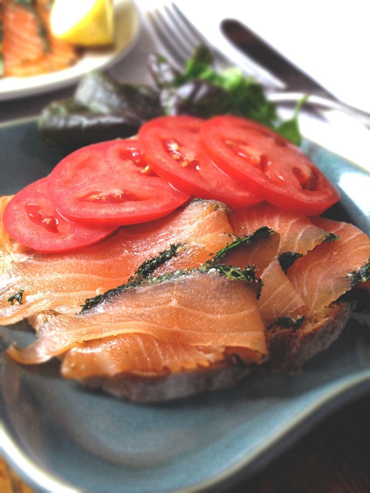 Gravad Laks (Cured Salmon) | Danish Open Sandwiches (Smørrebrød)