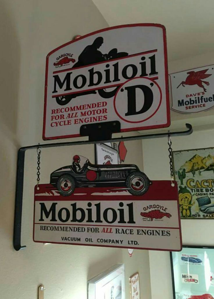 RARE Original Mobiloil Signs