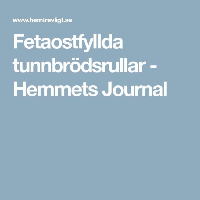 Fetaostfyllda tunnbrödsrullar - Hemmets Journal