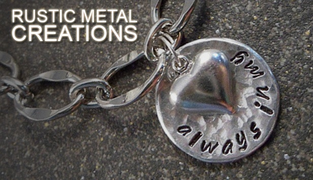 Get a great piece of jewelry for 50% off from Rustic Metal Creations!