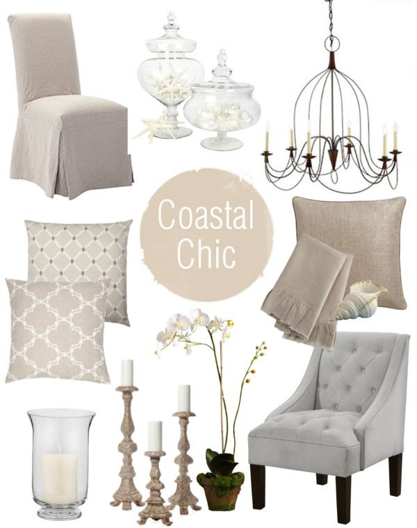 Coastal Chic: this might be my style along with some French country touches