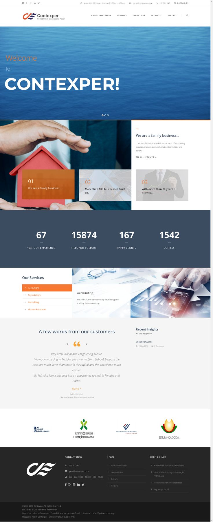 One of the most robust websites that I have seen lately. Just wow. // http://en.contexper.pt // #business #consulting #accounting #taxes #finances #design #webdesign #website #contexper #peniche #portugal