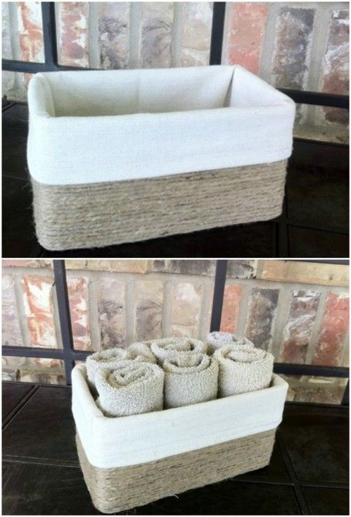 Faux Basket - 25 Brilliantly Crafty Shoebox Projects for You, Your Home, and the Kids - DIY & Crafts