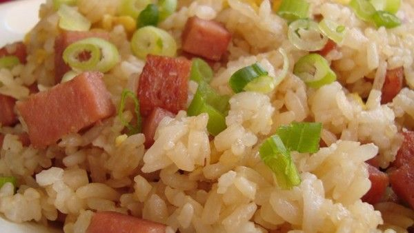 Yummy Sriracha and SPAM Fried Rice #bossfriedrice #homemade #spam