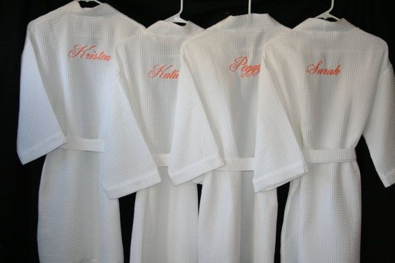 PERSONALIZED Waffle Weave Robes Come in 9 Colors by EmbroideryMark