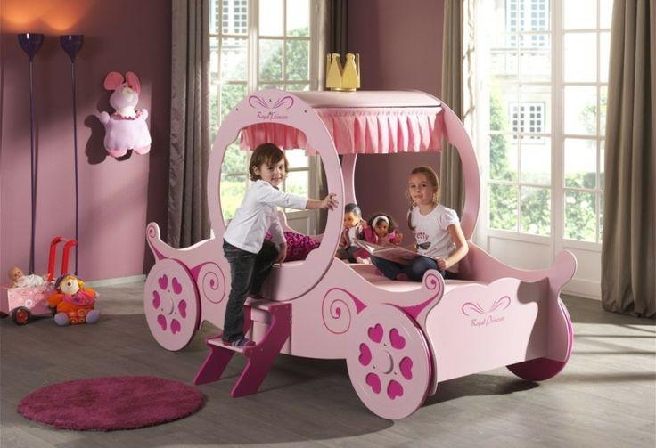 princesa carruage habitacion cama chica ideas