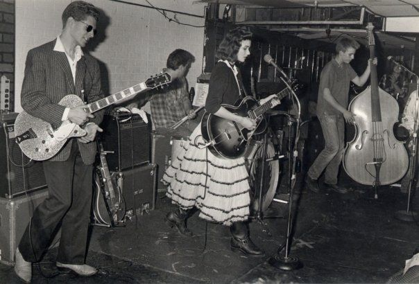 The Red Devils in the 1980s, Orange County US, rockabilly band.  Used to love this band live.