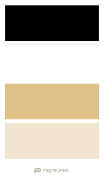 Black, White, Gold, and Champagne Wedding Color Palette - custom color palette created at MagnetStreet.com