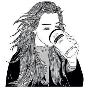 Mädchen trinkt