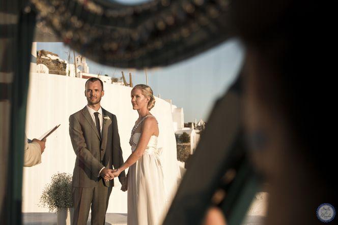 Outdoor Venue | Santorini Wedding by Stella and Moscha - Exclusive Greek Island Weddings | Photo by Nikos P. Gogas
