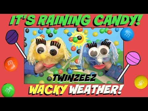 IT'S RAINING CANDY! - WACKY WEATHER! Twins tussle over winter and summer...