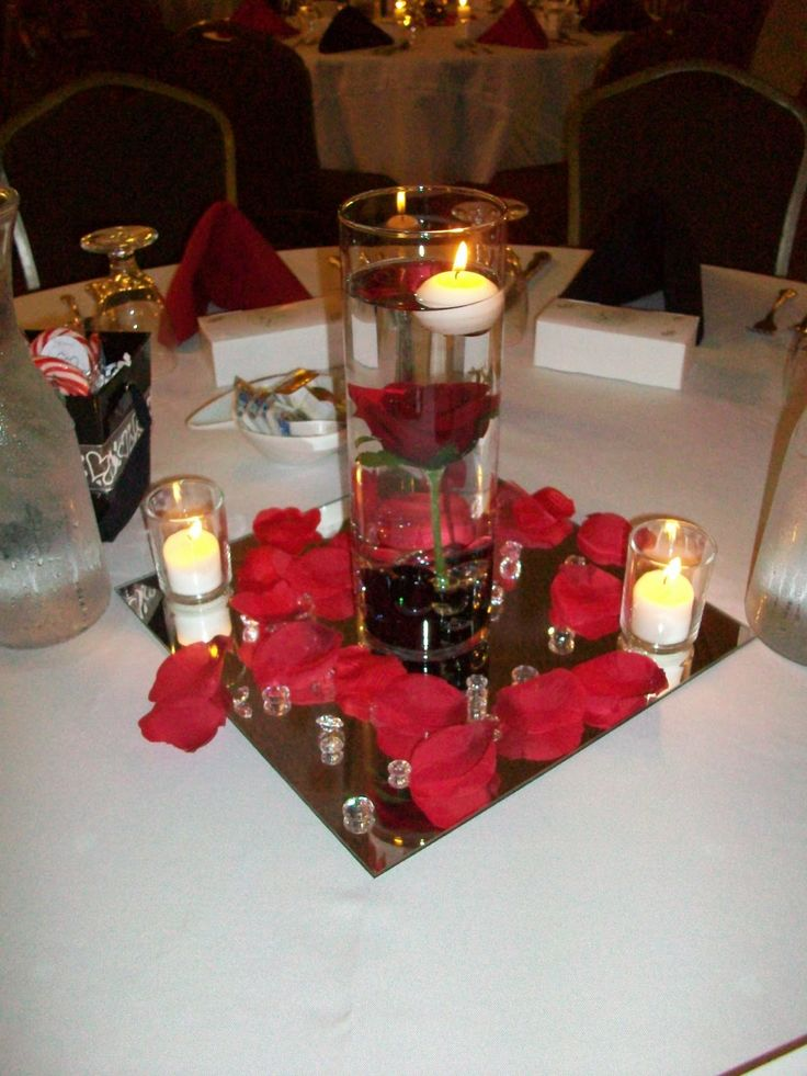 Mirror Centerpieces Decorations | Whether You Choose A Formal Setting With  Live Floral Andcandles Or Opt