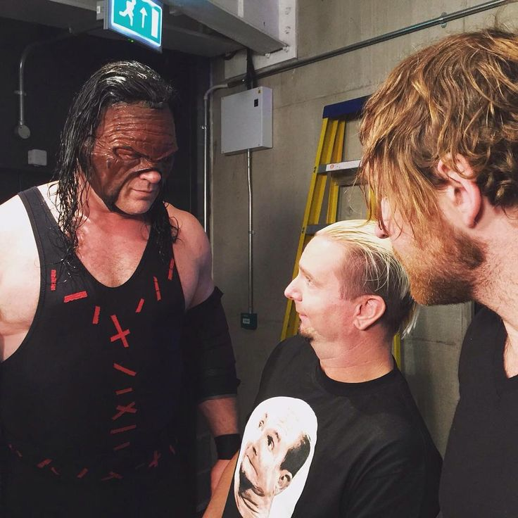 dean ambrose with james and kane