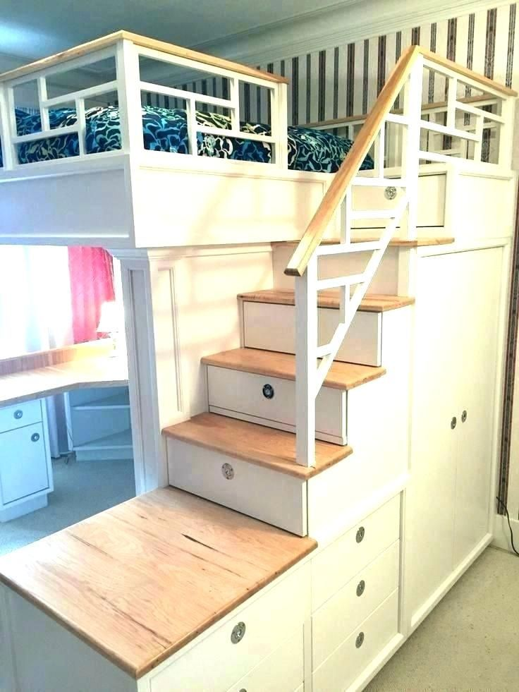 Queen Size Bunk Bed With Desk Full Underneath Decorating