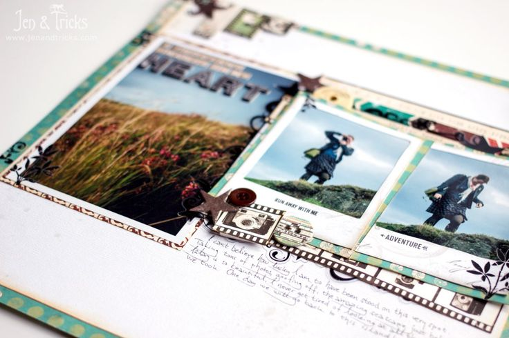 jenandtricks - Pick 5! Creating a scrapbook layout from five old products