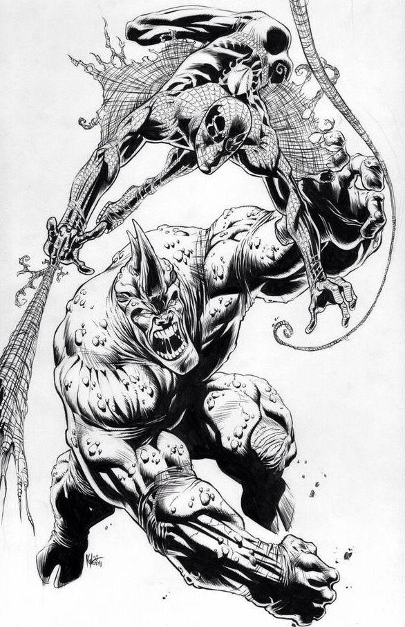 Spider-Man vs. Rhino by Kyle Hotz *   * Comics: Marvel 1 ...