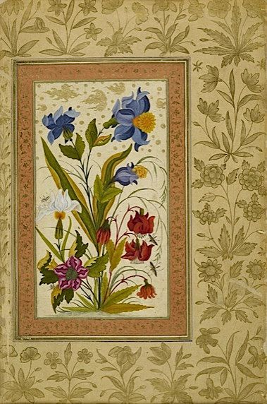 More exotic flowers with insects alighting on them (Add.Or.3129, f 49v)