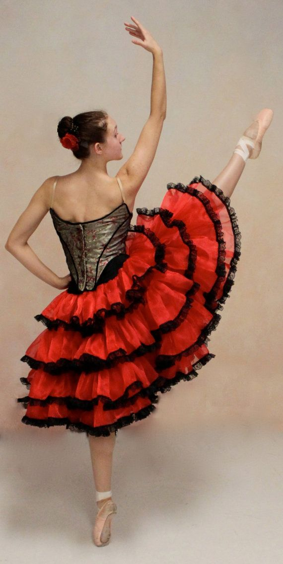 Couture Spanish style ballet costume by SharpSewing on Etsy, $800.00