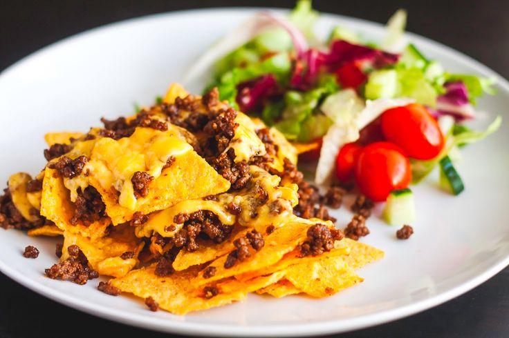 Mad på 4 sal: Nachos med oksekød og cheddar ost