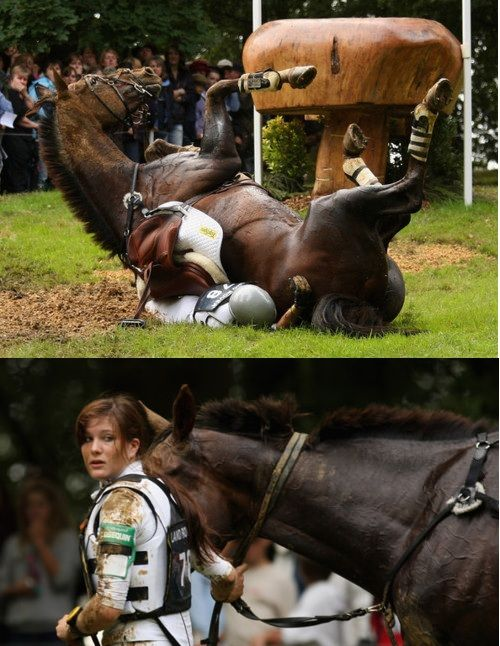 Equestrians. There is no one tougher.