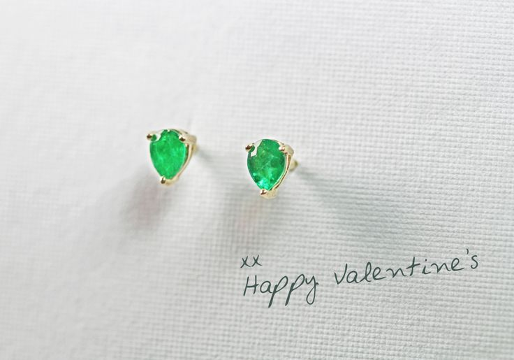 "Emeralds to say ""I Love You"". #valentines #gift #ideas"