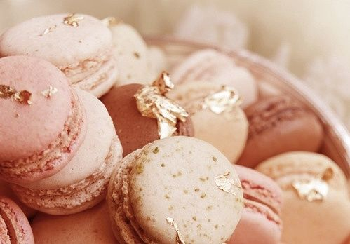 Marie Antoinette Party Decorations | Marie Antoinette Party Ideas / gold leafed macarons