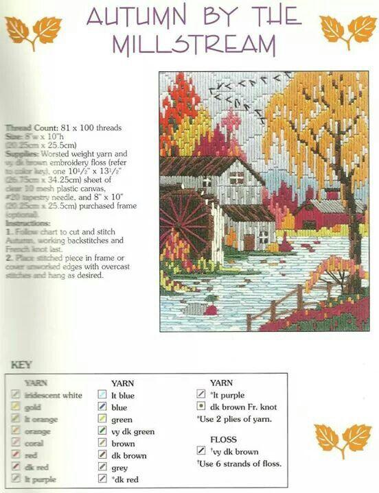 Lovely seasons in long stitch