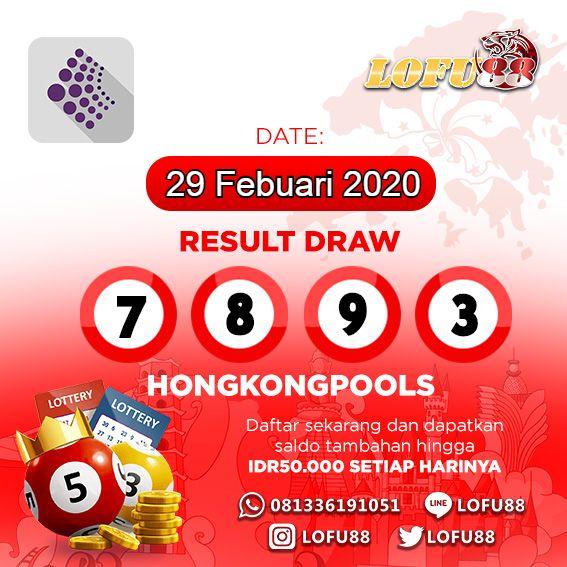 HASIL TOGEL HONGKONG 29 FEBRUARI 2020 in 2020 | Pops