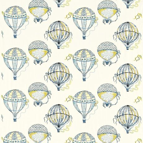 Sanderson Beautiful Balloons Fabric DBLL232297 Designer Fabrics and Wallpapers by Sanderson, Harlequin, Morris, Osborne, Little And many more