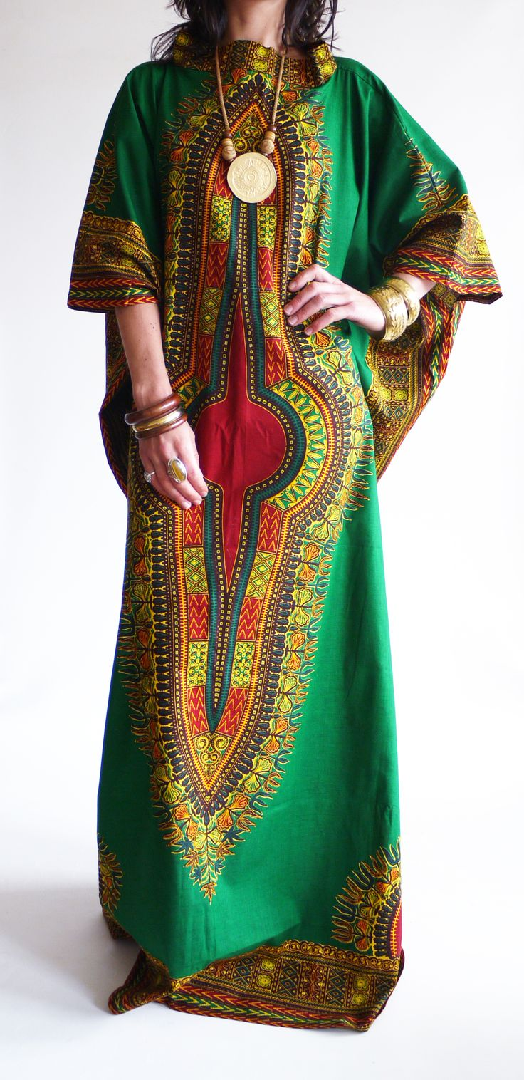 Vintage 1970s Dashiki hippie kaftan @ www.secondhandnew.nl