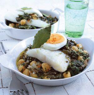 Receta de potaje con garbanzos y espinacas | Cantabria | Spain