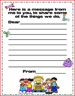 For Open House...this site also has the one for parents to write back to their child.