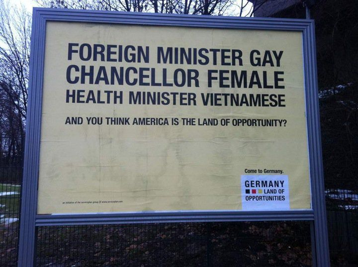 Germany - Land of opportunities: Opportunity, Funny Pictures, Land, Germany, Things, Foreign Minister, Minister Gay