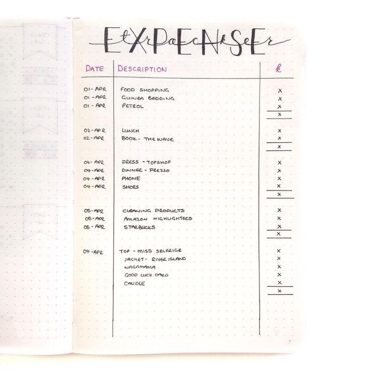 23 best Budgeting images on Pinterest Bullet journal inspiration - real estate agent expense tracking spreadsheet