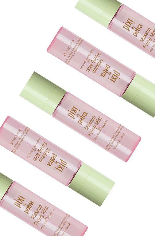The best makeup fixing sprays. @pixibeauty Makeup Fixing Mist, £16